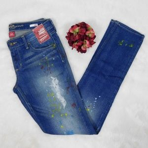 Arizona Skinny Jean's  Paint Splatter Jrs 5